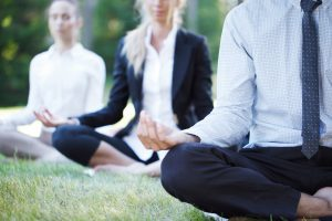 Corporate yoga for business people