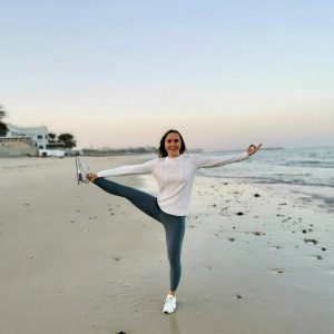 Yoga in Kuwait on the beach